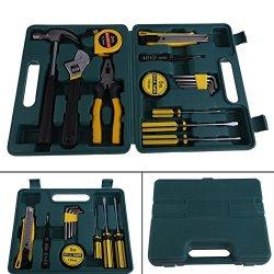 Vktech® Handy Household Home 16Pcs Tool Kit Set Hammer Screwdriver Pliers
