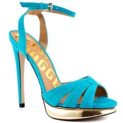 Kelsi Dagger Chacha Womens Size 8 Blue Platforms Sandals Shoes