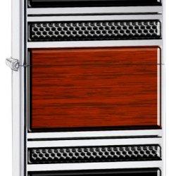Zippo Wood Grain Lighter, High Polish Brass