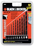Black & Decker 15557 10 Piece Drill Bit Set