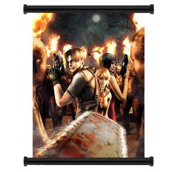 """Resident Evil 4 Game Fabric Wall Scroll Poster (16"""" X 20"""") Inches"""