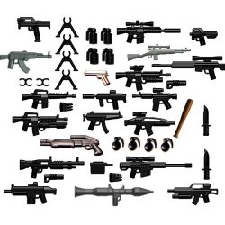"""Brickarms Custom 42 Piece Set 2.5"""" Scale Weapons Pack"""