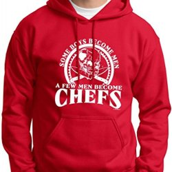 Created Equal, Some Boys Become Men Chefs Premium Hoodie Sweatshirt Xl Deep Red
