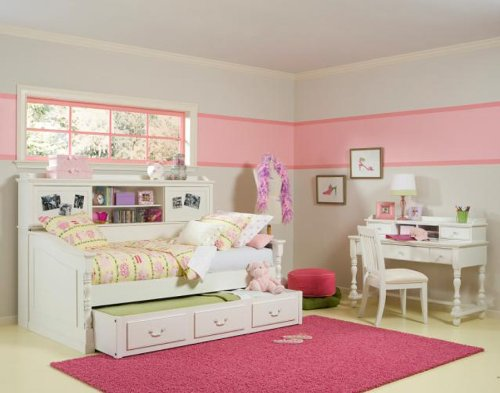Image of Legacy Classic Kids Olivia Twin Day Bed wTrundle Bedroom Set (B007JG33DY)