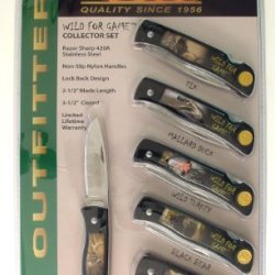 Ruko Wild For Game Folding Knife Set With 2-1/2-Inch Blade (Set Of 6)