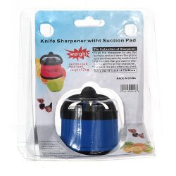 Kitchen Safety Knife Sharpener With Secure Suction Pad