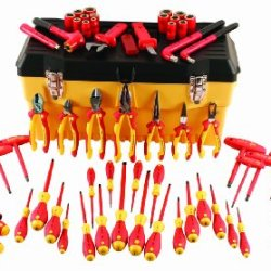 Wiha 32876 Insulated Set With Pliers, Cutters, Nut Drivers, Screwdrivers, T Handles, Knife, Sockets, 3/8-Inch Dr Ratchet, Adjustable Wrench, 66-Piece