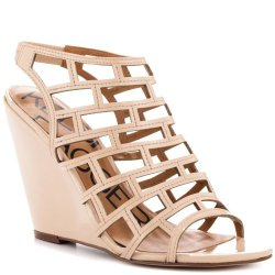 Kelsi Dagger Eris Womens Size 9 Beige Open Toe Wedge Sandals Shoes