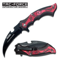 """Collector Series Black Dragon Folding Knife 4 3/4"""" Closed"""