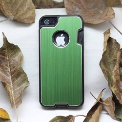 B.N.G Fashion Design Metal Skin Cover With Knife Case For Iphone 5 5S+ 1 Camping Multifunctional Knife + 1 Small Gift (Green)