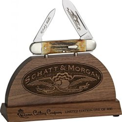 Queen Schatt & Morgan Fold Knife, 4 1/4In. Closed, D2 Tool Steel Spear And Pen Blade 3833