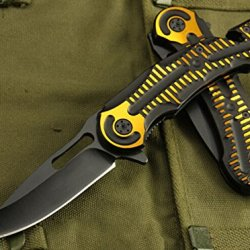 Speed Opening Yellow Handle Rescue Knife Glbysp-8.66''