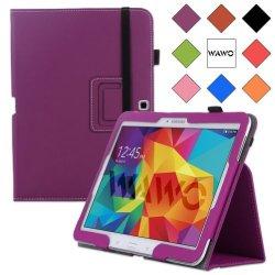 Wawo Samsung Galaxy Tab 4 10.1 Inch Tablet Smart Cover Creative Folio Case - Purple