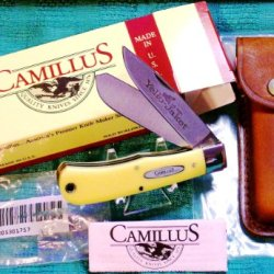 1980'S Camillus 719Y Yello Jaket Large Trapper