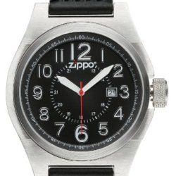 Zippo Sports Watch With Black Dial And Black Silicone Strap