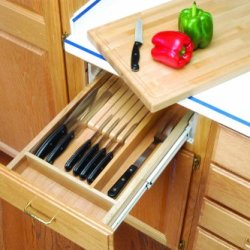 Combination Wooden Knife Holder And Cutting Board