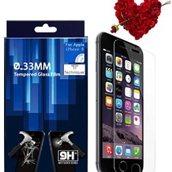 """Iphone 6 Plus Hd Tempered Glass Screen Protector Kit [5.5""""], Thickness Of 0.33Mm, 9H Surface Hardness, Oleophobic Glass Surface To Maintain Original Touch Sensitivity - Premium Japanese Glass Film With 2.5D Curved Edges - Anti-Scratch, Anti-Glare, Fingerp"""