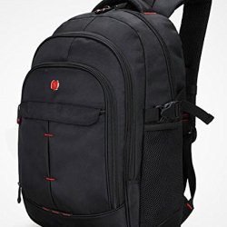 Victoriacross Business And Casual Travel Gear Laptop Daypack Backpack. Ipad Teblet Sports Outdoor School.Journey Trip Camping Bag Hiking.Fashion Macbook Computer Notebook-Vc6010V-S1 Black