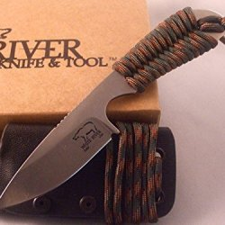 White River Knife & Tool Backpacker Hunting Knife Camo Paracord Handle Wrbp-Ca