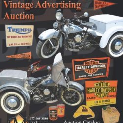 Harley Davidson Motorcycles Vintage Advertising Auction