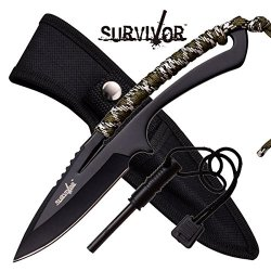 Sale Full Tang Survival Knife W/ Fire Starter Hk767Ca
