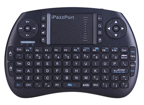 iPazzPort Wireless Mini Keyboard with Touchpad for Android TV Box and Raspberry Pi 3 and HTPC KP-810-21S Black