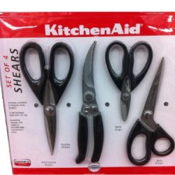 New Super Set Of 4 Kitchenaid Kitchen Knives Scissors Meat Shers Herb Snips