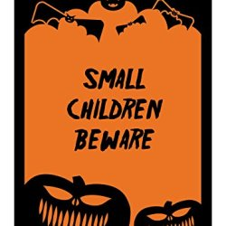"Reflective Aluminum Halloween Sign ""Small Children Beware"" 10"" X 14"" (Hw-0125-Ra)"