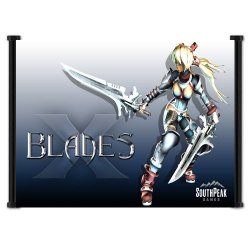 """X-Blades Game Fabric Wall Scroll Poster (26"""" X 16"""") Inches"""