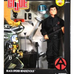"Hasbro Year 2002 G.I. Joe Timeless Collection ""Reminiscent Of The Golden Age Of Gi Joe"" Series 12 Inch Tall Kung-Fu Grip Soldier Action Figure - Black Spider Rendezvous With Gi Joe Figure, Helmet With Visor, Map Case, Map, Machine Gun With Removable Clip,"