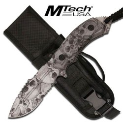 """Mt-20-18Dsc M-Tech Iosp2P Xtreme Tactical 3Unlr9J Fighting Knife 8"""" Overall With Case Ayeuiu56 Hlbv23Rt Skull Camo 5Mm Thick Tanto Bladepartially Serrated Stainless J1Vkkixv3Y Steel Bladeblood Groove On The Bladeskull Camo Full Tang Kcdyafye Handlelanyard"""