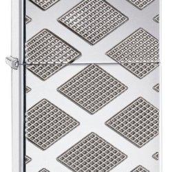 Zippo Armor Diamond Design Lighter, High Polish Chrome