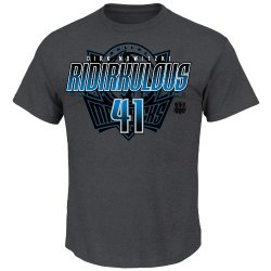 Nba Dallas Mavericks Men'S Dirk Nowitzki 41 Tonal Logo T-Shirt, Charcoal, Small