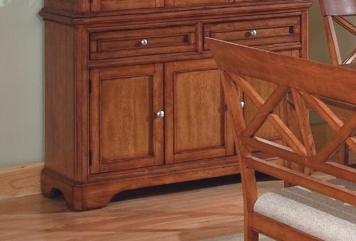 Image of Contemporary Walnut Finish Dining Room Sideboard Server (VF_AZ00-28163x30431)