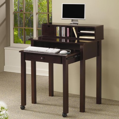 Picture of Comfortable COMPUTER DESK/CAPPUCCINO 31-1/2x19-30x38-1/2H (B004ZP7H2A) (Computer Desks)