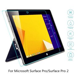Boriyuan Microsoft Surface Pro 2 Screen Protector, [Tempered Glass Protection] Ultra Slim Crystal Clear Premium Tempered Glass Screen Protector For Microsoft Surface Pro/ Microsoft Surface Pro 2 - Brand New In Retail Package, Comes With A Micro Fiber Clea
