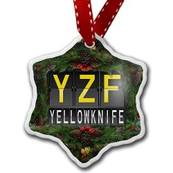 Christmas Ornament Yzf Airport Code For Yellowknife - Neonblond