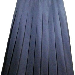 Engelic Girls Pleated Long Skirt Navy Wool Navy Size 14 Long