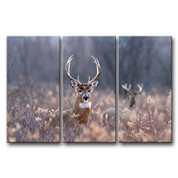 3 Panel Wall Art Painting Deer In The Bushes Pictures Prints On Canvas Animal The Picture Decor Oil For Home Modern Decoration Print For Decor Gifts