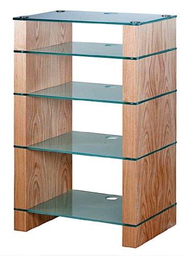 Image of BLOK STAX DeLuxe 500 Five Shelf Oak Hifi Audio Stand & AV TV Furniture Rack Unit (B003DVHW2W)