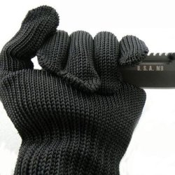 Bestpriceam New Wire Safety Anti-Slash Cut Proof Static Stab Resistance Protect Gloves Mesh Black