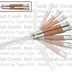 Wood Bali-Comb Butterfly Knife Practice Trainer Comb