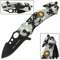K-9 Arctic Camo Mini-Tactical Folding Pocket Knife