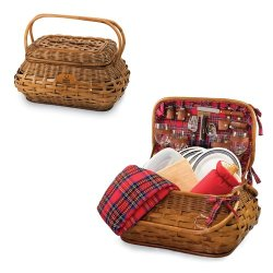 Nfl Highlander Red Tartan Engraved Picnic Basket Nfl Team: Indianapolis Colts