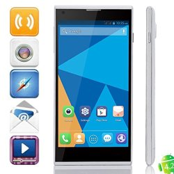 """Doogee Dg550 5.5"""" Android 4.2 Smartphone With Phone Case Octa Core 1.7Ghz 16Gb Rom 13.0Mp Camera Cellphone(White Phone&Black Case)"""
