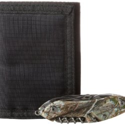 Reward Men'S Fabric Trifold Wallet And Multi Tool, Black/Camo, One Size