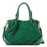 Nicole Lee Calley Textured Zigzag Shoulder Bag