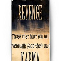 Ouo Design Don'T Waste Your Time On Revenge Those Hurt You Will Eventually Face Their Own Karma Fit For 5.5 Inch Iphone 6 Plus - Hard Snap On Plastic Case - Inspirational And Motivational Life Quotes