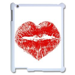 Diy Personalized New Custom Cute Cartoon Sexy Red Kiss Lips Lipstick Pattern Design Cell Phone Case Cover For Apple Ipad 3 Case Ipad 2 4 Case Hard Plastic Mobile Phone Case Protective Shell