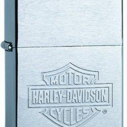Zippo Harley-Davidson Engraved Lighter (Silver, 5 1/2 X 3 1/2 Cm)